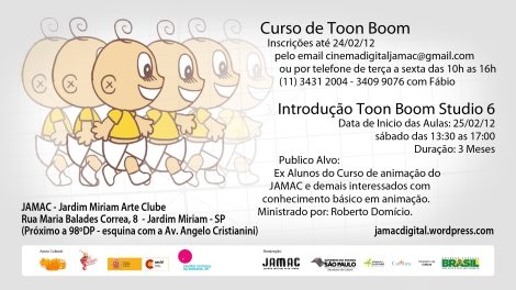 JAMAC Cinema Digital - Oficina de Toon Boom