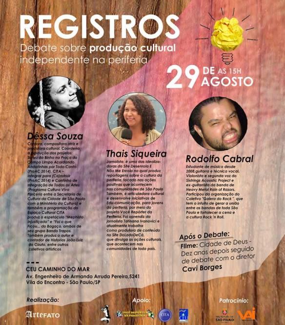 REGISTROS: Debate sobre produção cultural
